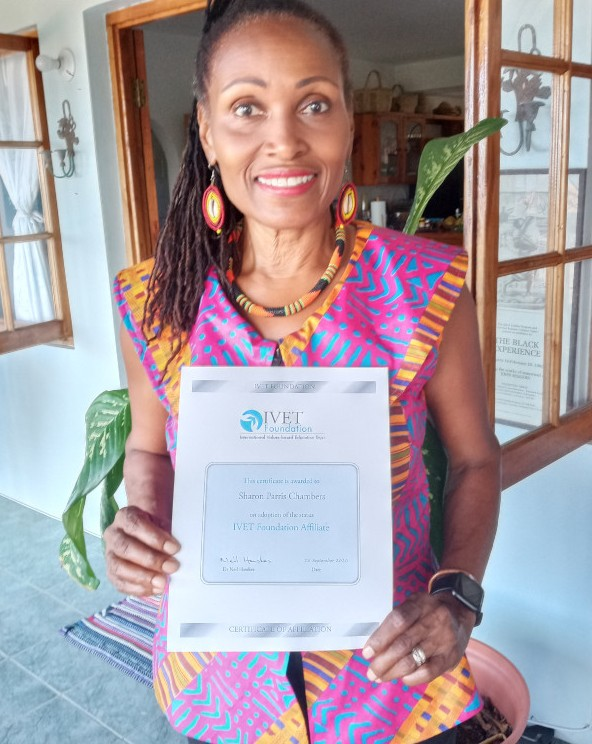 sharon_parris_chambers-with-IVET-Certificate